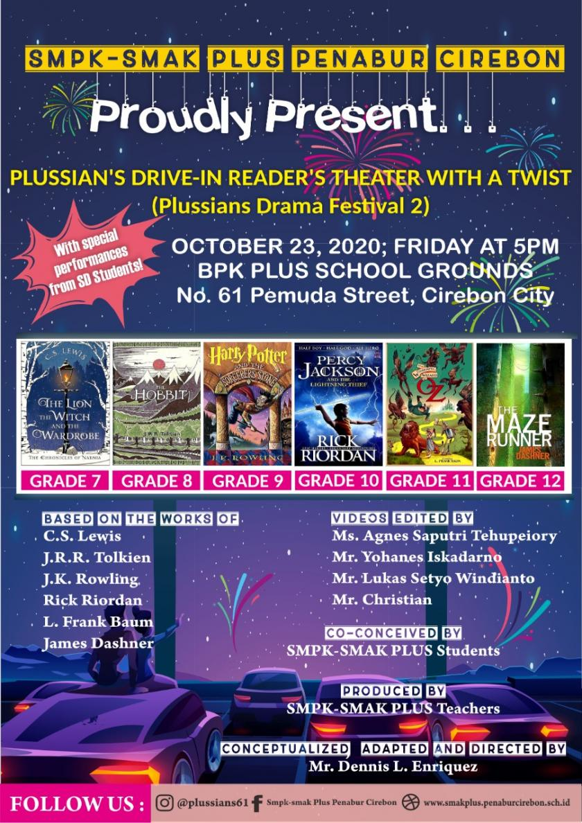 COME & JOIN US FOR WATCHING PLUSSIANS READERS THEATER WITH A TWIST