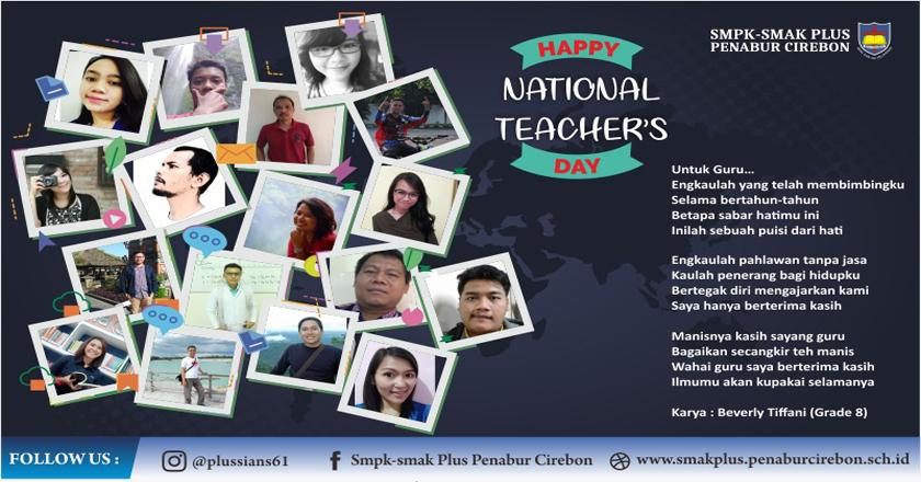 HAPPY NATIONAL TEACHER'S DAY