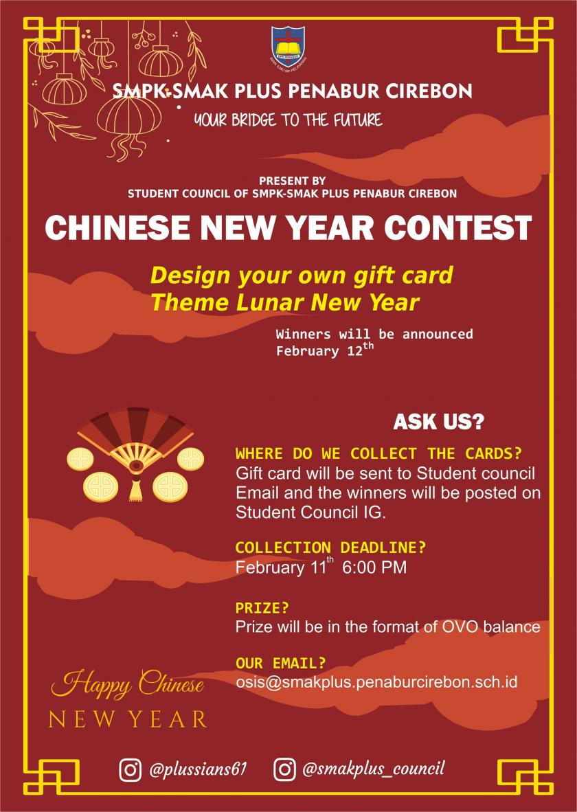 CHINESE NEW YEAR CONTEST, LET'S JOIN US !!!